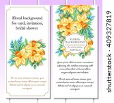 romantic invitation. wedding ... | Shutterstock .eps vector #409327819
