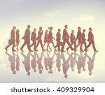 business people commuter...   Shutterstock . vector #409329904