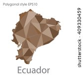 ecuador map in geometric... | Shutterstock .eps vector #409330459
