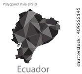 ecuador map in geometric... | Shutterstock .eps vector #409332145