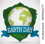 earth day design with green... | Shutterstock .eps vector #409336177