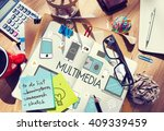 multimedia communication... | Shutterstock . vector #409339459