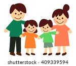 family of four | Shutterstock . vector #409339594