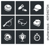 set of clay shooting icons.... | Shutterstock . vector #409340734