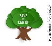 Save The Earth Stamp On Paper...