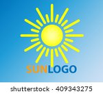 sun vector icon sol sunshine... | Shutterstock .eps vector #409343275