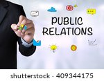 public relations and... | Shutterstock . vector #409344175