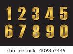 vector golden numbers. set of... | Shutterstock .eps vector #409352449
