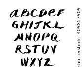 grunge hand drawn alphabet | Shutterstock .eps vector #409357909