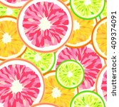 abstract pattern  of citrus ... | Shutterstock .eps vector #409374091