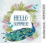 """hello summer "" banner with... 