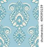 vector seamless paisley pattern ... | Shutterstock .eps vector #409393159