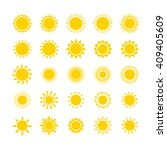 Sun Icon Set. Star Logo Icon....