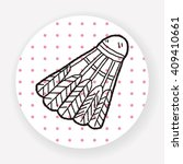 doodle badminton | Shutterstock .eps vector #409410661