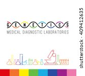 genetics logo of medical clinic ... | Shutterstock .eps vector #409412635