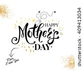sentimental loving black  white ... | Shutterstock .eps vector #409413034