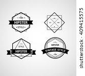 badges hipster vector | Shutterstock .eps vector #409415575