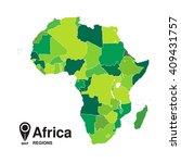 map of africa. regions of africa | Shutterstock .eps vector #409431757