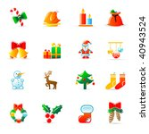 christmas icons   Shutterstock .eps vector #40943524