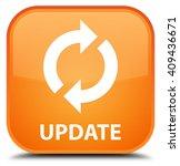 update orange square button   Shutterstock . vector #409436671