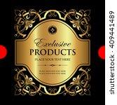luxury ornamental label | Shutterstock .eps vector #409441489