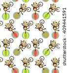 seamless circus pattern design. ...   Shutterstock .eps vector #409441591