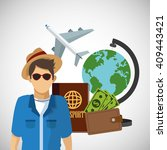 travel design  vacations and... | Shutterstock .eps vector #409443421