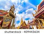 a giant statue of ravana temple ... | Shutterstock . vector #409443634