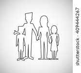 family design  relationship and ... | Shutterstock .eps vector #409444267