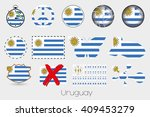 many different styles of flag... | Shutterstock . vector #409453279