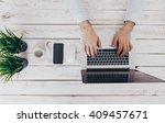 businessman at work. close up... | Shutterstock . vector #409457671