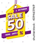 sale tag   sale banner  sale... | Shutterstock .eps vector #409465969