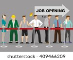 people from all walks of line... | Shutterstock .eps vector #409466209
