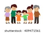 3 generation family | Shutterstock . vector #409471561