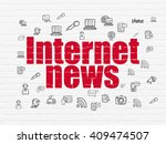 news concept  painted red text... | Shutterstock . vector #409474507
