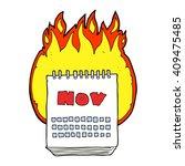 freehand drawn cartoon calendar ... | Shutterstock .eps vector #409475485