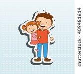 happy family design    Shutterstock .eps vector #409481614