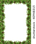 christmas green  framework   Shutterstock . vector #40948315