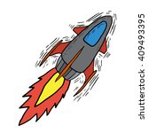 rocket sketch drawing with free ...
