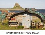 Upside Down Boat  Lobster Nets...