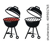 barbecue grill icons | Shutterstock .eps vector #409501765
