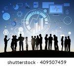 success goals analysis... | Shutterstock . vector #409507459