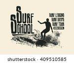 Surf School. Design T Shirt....