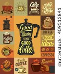vector coffee shop and coffee... | Shutterstock .eps vector #409512841