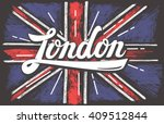 vector hand drawn color uk... | Shutterstock .eps vector #409512844