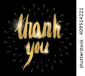 'thank you' hand lettering | Shutterstock .eps vector #409514221