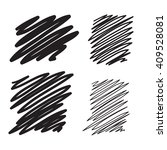 blobs set hand drawn... | Shutterstock . vector #409528081