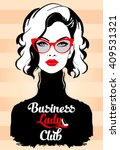 fashion business woman in... | Shutterstock .eps vector #409531321
