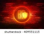 data storage with shield. data... | Shutterstock . vector #409551115