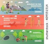 vector set of summer recreation ... | Shutterstock .eps vector #409551514